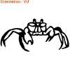 Atomistickers idéal pour décorer avec des autocollants crabe.