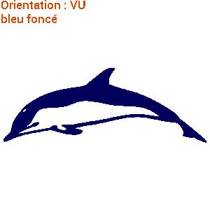 Beau dauphin bleu qui nage dans l'océan représenté en sticker sur zlook.