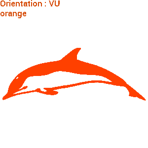 Un sticker de dauphin qui nage sur zlook.