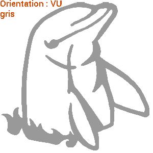 Le sticker dauphin gris sur zlook est une création originale atomsitickers.