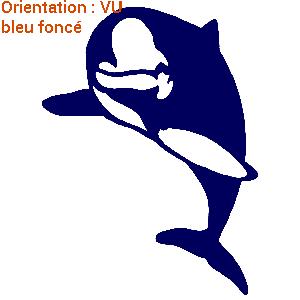 Grand dauphin bleu sur atomsitickers.