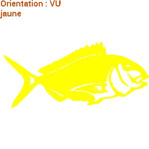 Une dorade jaune an stickers fait plaisir à un pêcheur atomistickers.