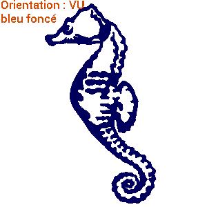 Les autocollants hippocampe d'atomistickers sont sympas en déco marin.
