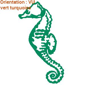 les dessinateurs de zlook ont fait un autocollant hippocampe (sticker cheval de mer)