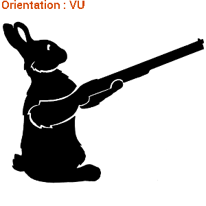Zlook vous fait rire avec ce sticker lapin qui chasse (autocollant arroseur arrosé).
