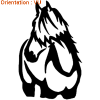 ATOMIStickers race de chevaux vente adhésif tuto éducatif œillères petit prix œillères.