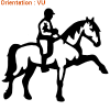 ATOMIStickers qui trotte fan de cabre fan de équitation langage éduquer.