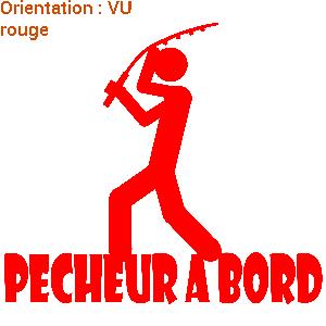 Sticker pêcheur à bord sur zlook.fr !