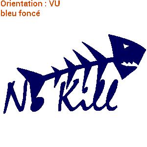 Sticker zlook poissons no kill atomistickers pêche raisonnée.