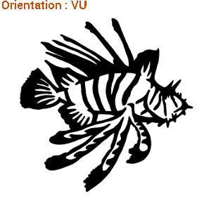 Sticker de la marque zlook représentant un poisson lion.