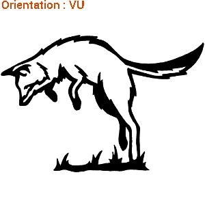 Un autocollant stupéfiant : un sticker renard qui mulotte sur zlook chasse.