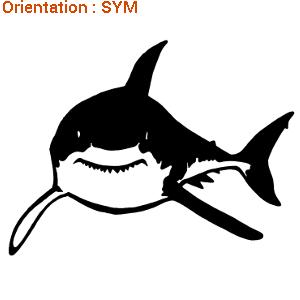 Sticker requin pour impressionner les amis avec ZLook.