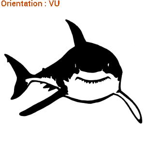 Cet autocollant requin blanc est très réalsite sur atomistickers.