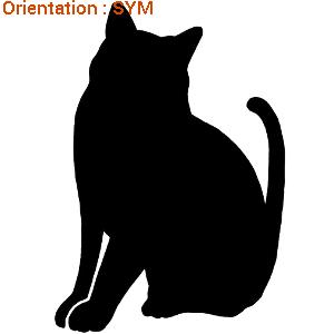 Atomistickers chats pour décoration autocollante avec atomsitickers.