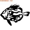 Sticker décoratif par atomistickers pour pêcheur et amoureux de la nature.
