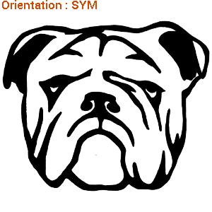 ATOMIstickers bulldog anglais pour décoration intérieure (zlook dog).