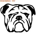 Acheter des autocollants chiens : stickers bulldog anglais.
