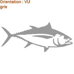 Ceci est un autocollant d'un thon en pleine mer (zlook est le créateur).
