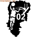 Sticker panier de basket département
