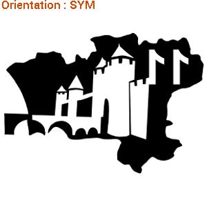 Sticker de la cité de Carcassonne par zlook.