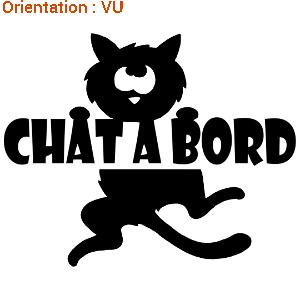Super sticker chat à bord | ATOMIstickers.fr BX33