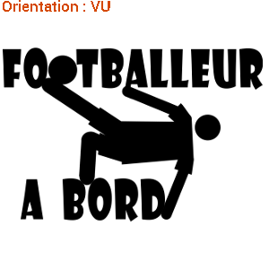 J'aime le foot en sticker !