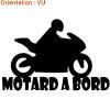 J'aime la moto en autocollant avec zlook motard.