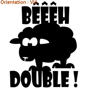 Super sticker mouton profil beeh double | ATOMIstickers.fr BX33
