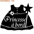 Sticker bébé à bord : autocollant princesse avec zlook