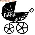 Sticker landau bébé à bord zlook.