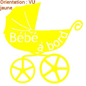 VEnte d'adhésif bébé à bord pour voiture.
