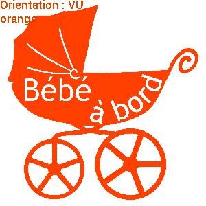 Sticker bébé pour les automobilistes par zlook.