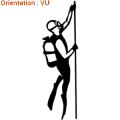Autocollant d'un plongeur remontant en surface avec un câble (acheter sur zlook)