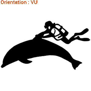 Acheter joli autocollant plongeur avec dauphin sur zlook.
