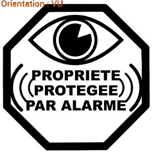 Acheter sur le site atomistickers.fr sécurité stickers surveillance original sticker pare-brise anti-cambriolage.