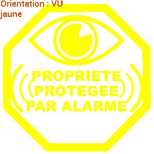 Sticker autocollant maison protégée par alarme