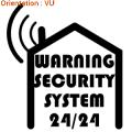 Ce sticker permet d'avertir d'une maison sécurisée par alarme atomistickers