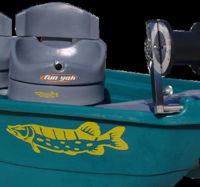 Autocollant poisson de rivière : le brochet est un carnassier.
