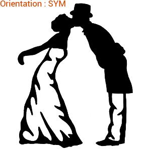 Cet autocollant mariage est original : zlook mariage.
