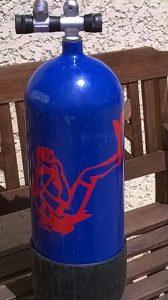 Zlook plongeur : autocollant bouteille de plongée sous-marine avec adhésifs atomistickers