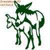 Sticker cheval et âne sur zlook : autocollants van de transport âne.