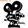 Voir cette caméra de cinéma en autocollants en vinyle adhésif sur zlook.