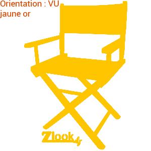 Acheter un autocollant cinéma sympa : la chaise réalisateur est présentée en autocollants de plusieurs couleurs.