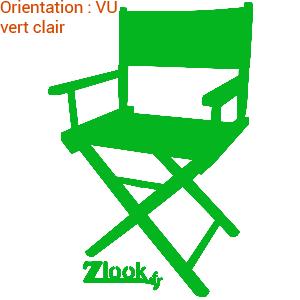 La chaise de réalisateur de cinéma est idéal pir une déco en vinyle adhésif.