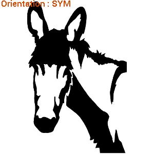 Sticker autocollant âne pour décorer un van pour les chevaux adhésif zlook.
