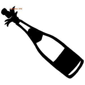 Pour les fêtes, un sticker de champagne est indispensable.