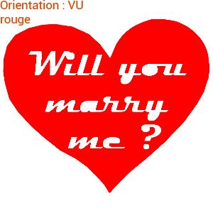 Dites-lui avec des coeurs : autocollants zlook sticker veux-tu m'épouser