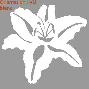 Fleur de lys blanc autocollant fleur sur atomistickers fleurs.