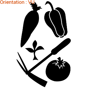 Les légumes sont présentés sur ATOMIstickers pour une déco adhésive sympa.