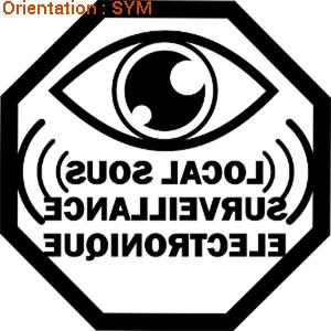 Dissuadez les voleurs avec ce sticker sécurité par zlook sécuritaire.